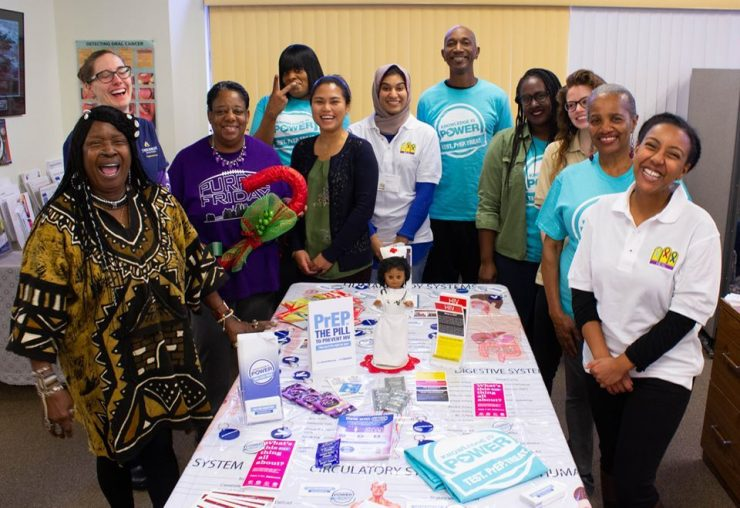 The PATIENTS Program shared health education materials with community members at St. Matthew's Community Long-Term Outreach Center on World AIDS Day in December 2019.
