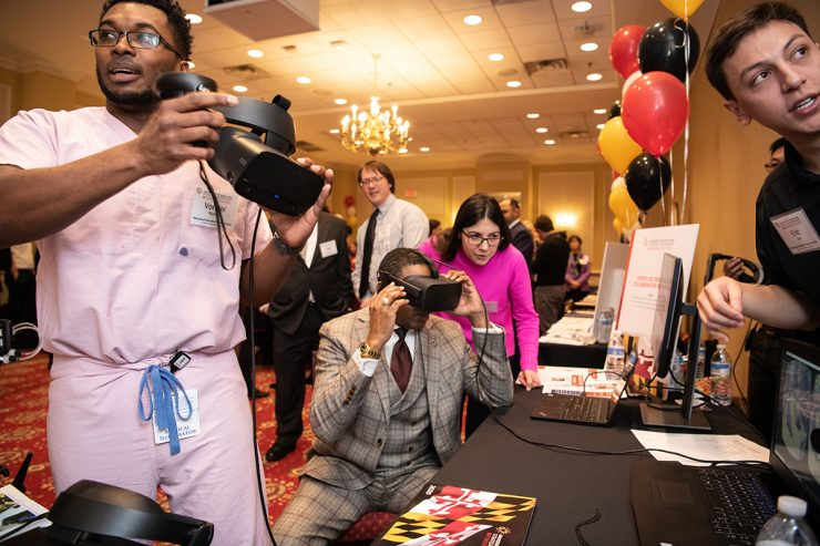 MPower Day in Annapolis showcases University of Maryland Strategic Partnership initiatives for members of the legislature such as Del. Keith Haynes of Baltimore.